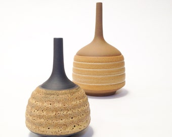 Ships now-  one small bud vase in ochre crater glaze by sarapaloma