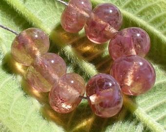 SRA Lampwork Handmade Glass Beads by Catalinaglass Pink Chiffon