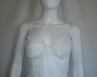 Closing Shop Sale 40% Off lingerie white top lace sheer