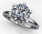 naomi ring - 1.5 carat NEO moissanite engagement ring