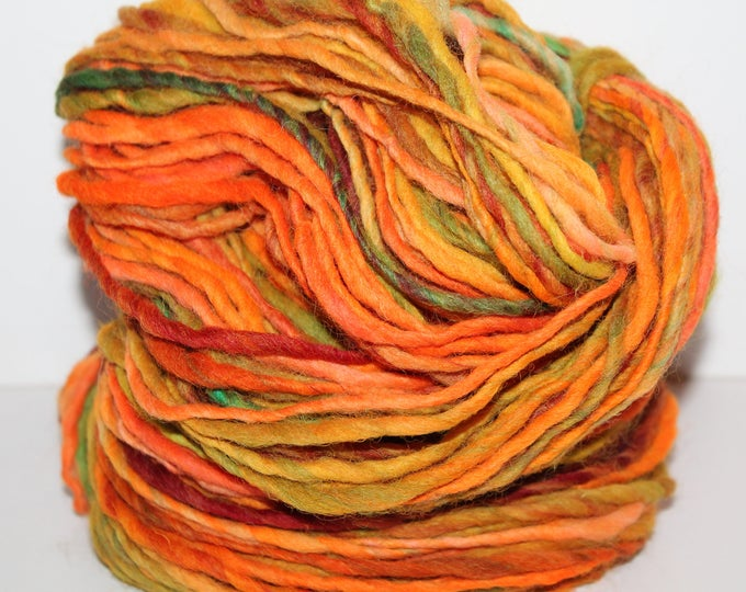 Hand spun Cheviot Wool. Single ply. Aran weight 4oz/120 yards. Knit.  C169
