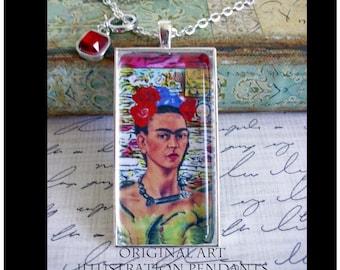 Frida Kahlo pendant... art pendants, gift boxed, Frida Kahlo, Frida Kahlo Jewelry, Frida Kahlo images, Frida Kahlo, mexican artist