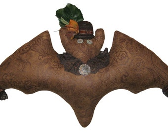 Steampunk Bat Pillow