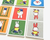 6x rare large thick Miffy Dick Bruna picture domino cards for framing