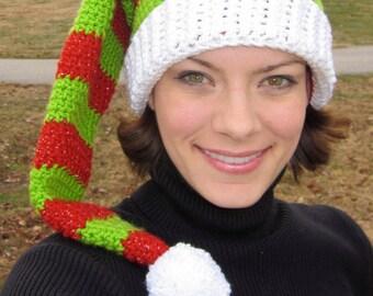 Crochet Pattern: Adult Elf Hat