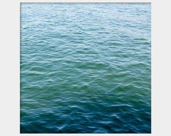 Turquoise Print, Water Photo, Aqua Art, Blue Green Wall Art, Turquoise Wall Decor, Modern Art, Abstract Art, Water Art, Vineyard Sound
