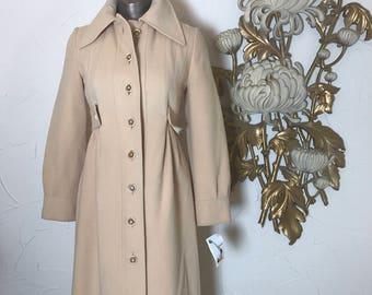 Fall sale 1970s coat cream coat i magnin coat size small camel hair coat vintage coat 32 bust 70s coat winter coat