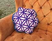 HUGGABLE PAINTING. Original Sacred Geometry Art Printed on Luxury Velveteen. A Painting you can Hug! Sacred Zen Yoga Art Pillow by Leah Wake