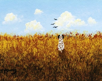 German Shorthaired Pointer Dog PRAIRIE GRASS Limited Edition reproduction Art PRINT of Todd Young painting