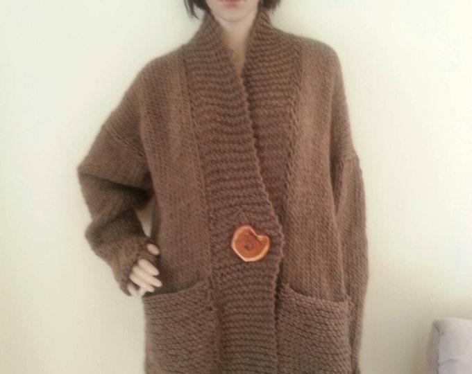 Cardigan  knit cardigan, oversize wool alpaca sweater, Knit sweater, womens cardigan, Knit cardigan, Grandpa cardigan, oversize cardigan