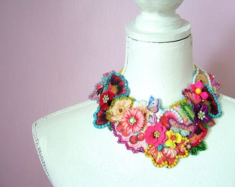Lazy Summer Days -  OOAK Neckpiece - Ready to ship xx