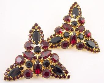 Huge Juliana Rhinestone Clip Earrings