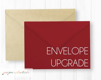 Colored Envelope Upgrade for Christmas and Holiday Cards