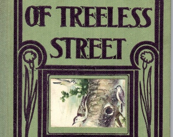 Gloria of Treeless Street Antique Little Book with Illustrations dated 1910