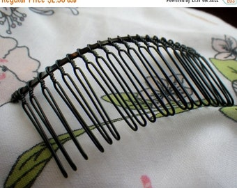 ON SALE 18% off Black Large Wire Hair Comb 78x38mm 4 Pcs
