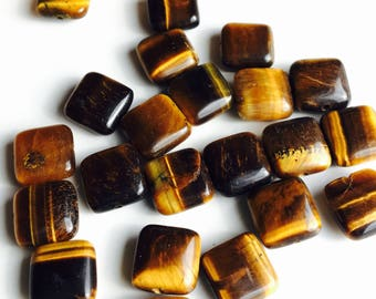 Tiger Eye Beads, Destashed Beads, Etsy, Etsy Supplies, Jewelry Supplies, Square Tiger Eye