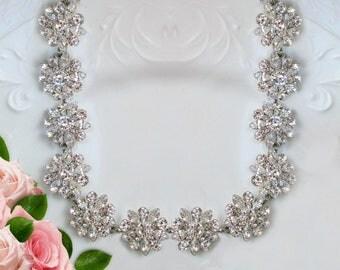 Wedding Necklace, bridal Jewelry, Crystal statement Necklace, Bridal necklace, Wedding Jewelry, Wedding Statement, Crystal Necklace