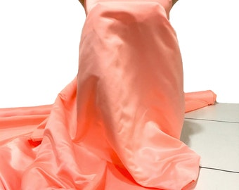 """Duchess satin Fabric 60"""" Peach 4122  ... bridal, formal, pageant, suits , home decor..wedding...crafts"""