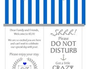 RESERVED FOR Danielle - Do Not Disturb Hotel Door Hangers - (30) Labels (2.5 inch round 13 sheets of 12)