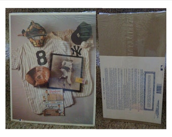 """No 7 DON LARSON """"The Perfect Game"""" 14""""x11"""" Certified MLB 1st Edition 1993"""