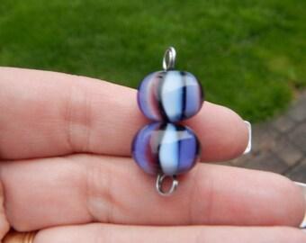 Ribbons, pair, Simply Lampwork by Nancy Gant, SRA G55