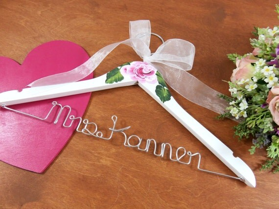 Wedding dress hangers bridal hanger mrs wedding hanger for Mrs hangers wedding dress