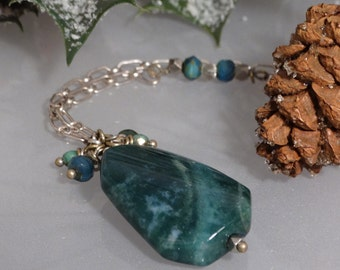 Emerald and Seafoam Agate Necklace