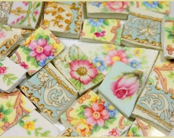 China Mosaic Tiles - SHaBBY CHiC CoLLeCTiON - 150 Vintage Mosaic Tiles