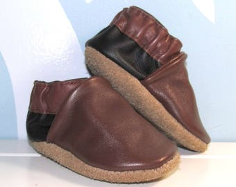 Soft Sole, Leather Baby Shoes, Baby Moccs, Eco Friendly, 0 to 6 Month