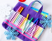 Crayon Tote • Crayon Bag • Coloring Bag • Art Tote • Crayon Holder • Crayon Roll • Flower Girl • Busy Bag • ARTOTE • Taste the Rainbow