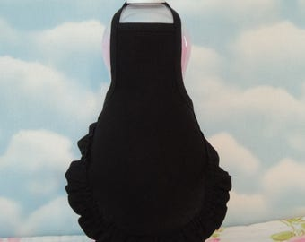 Solid Black Dish Soap Bottle Apron Ruffle - fits 25 oz.