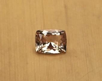 Natural Genuine Morganite - 7.08 x 8.96mm, 4.90mm deep Rectangular Cushion shape Loose Peach Pink Morganite Gemstone, 2.06 carats - LSG912