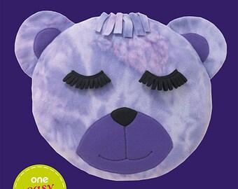 OOP Bear Head Fleece Pillow Sewing Pattern  Simplicity 1976 Sew Simple Pattern One Size UNCUT