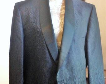 Mod VIntage Tuxedo Jacket Vintage 60s Size L Pembrook for Woolf Brothers Stores 60s Tux Jacket