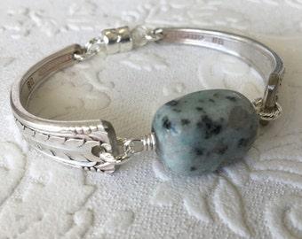Seasame Jasper Spoon Handle Bracelet