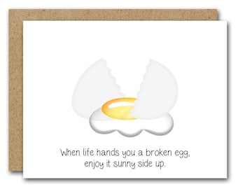 Get Well Soon Card, INSTANT DOWNLOAD, Encouragement Card, Support Card, Friend Get Well Card, Sympathy Card, Feel Better Card, Funny Egg