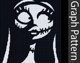 David Bowie GRAPH Crochet Pattern David Bowie Graphghan
