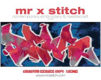 Graffiti Cross Stitch #009 - Dems