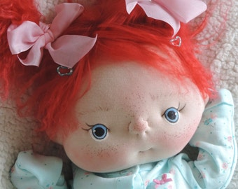 Penny a One of a Kind Soft Sculpture Baby Doll by BeBe Babies OOAK Cloth Baby doll Cloth Doll Soft Sculpture Art Doll