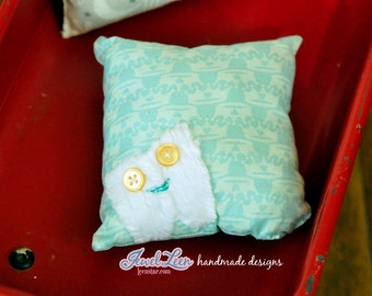 Tooth Fairy Pillow -  Blue Crown