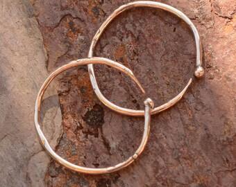 C Shaped Earring Hoops in Sterling Silver, AD-641