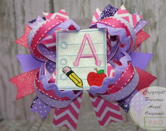 A+ Back to School Loopy Layered Hair Bow