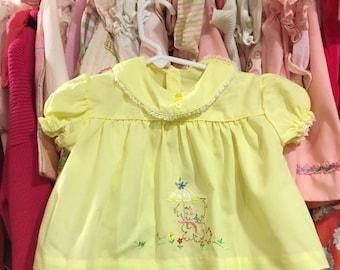 1960s Baby Dress 6/9 Months