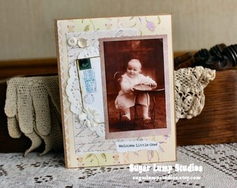 Congratulations Baby card,handmade card,collage card,