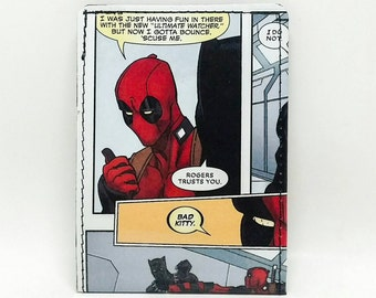 Sewn Comic Book Wallet - Deadpool vs Black Panther