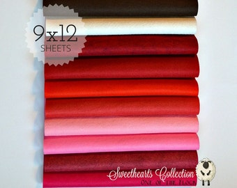 Sweethearts Felt Collection, Wool Blend Felt, Wool Felt Sheets, Wool Felt Fabric, Felt Fabric Bundle, Wool Felt Bundles, Felt Collections