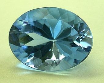 VINTAGE BLUE TOPAZ Faceted Gemstone Oval 20x15mm 21.74 cts fg125