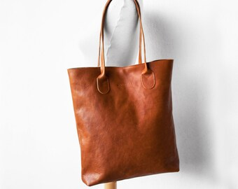 The Essential Tote in Cinnamon/ Leather Tote Bag / Leather Bag / Brown Tote Bag /Tote Bag /Brown Leather Tote /Leather Handbag