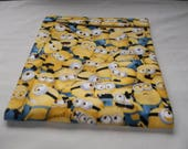 Microwave, Minions Potato Bag, Large All Cotton, Yellow, Baked Potato Bag, Potato Bag, Handmade, Kitchen Utensil, The Minions are Here, Gift
