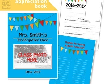 Teacher Appreciation Book - Teacher Appreciation Gift - Class Teacher Appreciation Activity